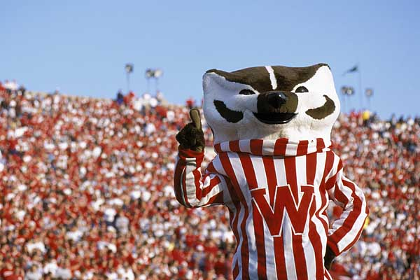 Bucky Badger at Camp Randall Stadium